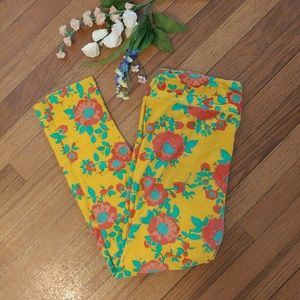 Floral Lularoe TC Leggings